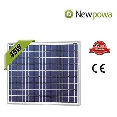 NewPowa High efficiency 45W 12V Poly Solar Panel Module RV Marine Boat Off Grid