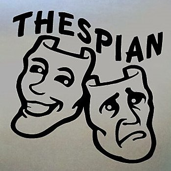 Thespian Actor/Actress Comedy/Tragedy Decal- 6