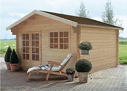 GartenPro – Caseta de madera para jardín - Modelo Barcelona - Color abeto natural