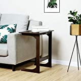 SONGMICS Bamboo Adjustable TV Tray, sofa