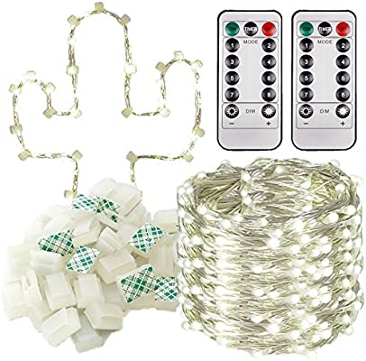 new arrivals 55253 3cc47 Room Decor For Teen Girls! - Create String Lights Wall Decorations For Your  Bedroom Or Dorm - Battery Powered Silver Wire LED Fairy Lights Bundle Pack  ...
