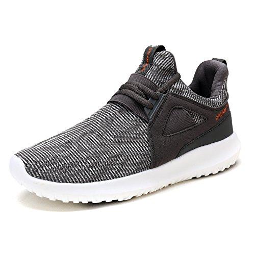 Droompaar Heren 170362-m Lichtgewicht Loopschoenen Sneakers Dk.grijs Oranje