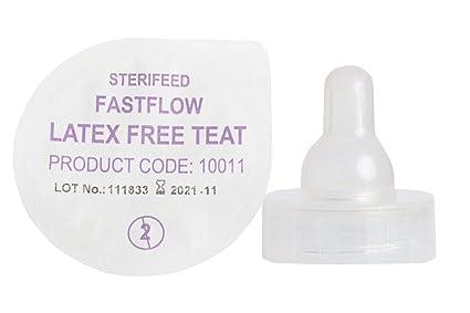 sterifeed sin látex estéril bebé Tetina, flujo rápido ...