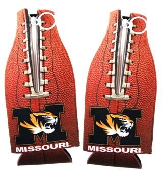 ( 2 ) Missouri Tigers footballボトルCoolie Koozies新しい。 B002ZKKWVA