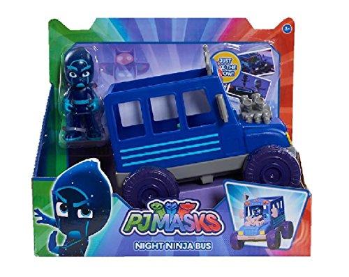 Amazon.com: PJ Masks - Night Ninja and Night Ninja Bus Vehicle - Just Like The Show!: Toys & Games