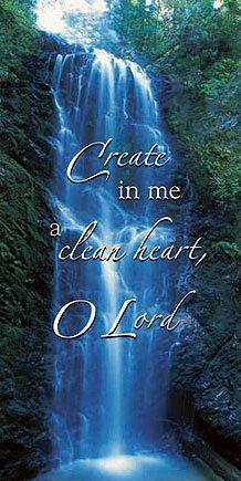 Create In Me A Clean Heart Canvas Church Banner