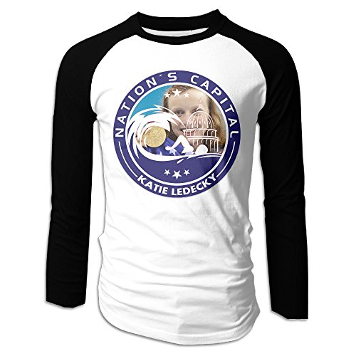 Creamfly Mens Swimmer Number1 Katie Long Sleeve Raglan Baseball Tshirt XL ()