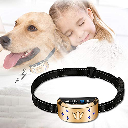 Dog Bark Collar, Waterproof Dog Training Collar, 3 Stop Anti Barking Modes [Beep, Vibration, and Shock], Anti Bark Collar Rechargeable for Small/Medium/Large - Collar Automatic Dog Bark
