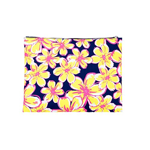 Wholesale Boutique Beach Floral Zip Pouch (Pouch Embroidered Zip)