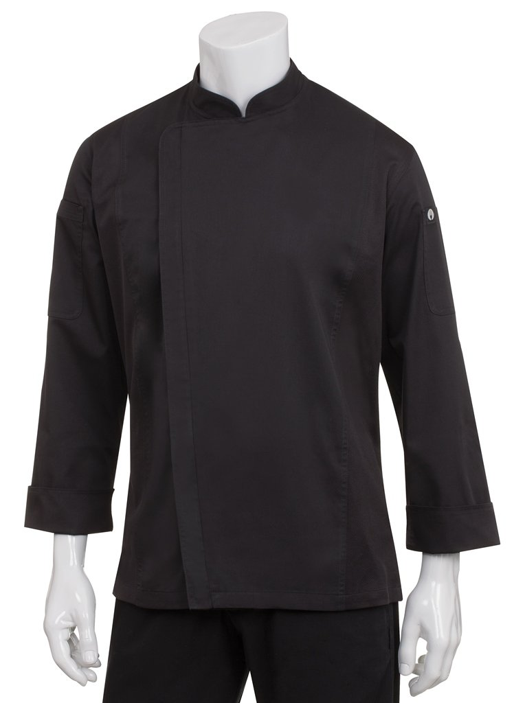 Chef Works Women's Hartford Chef Coat (BCWLZ005) BCWLZ005-BLK-M