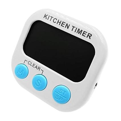 TAOtTAO - Reloj de Cocina Digital con Pantalla LCD (Gran tamaño, con Alarma magnética