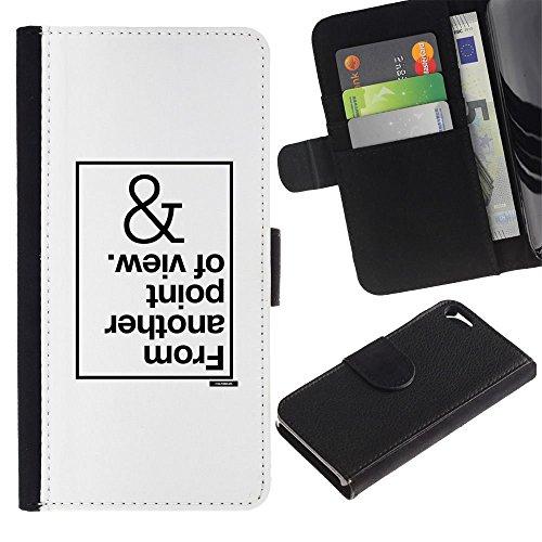 // MECELL CITY PRESENT // PU Leather Wallet Case Protective Cover Cuir Portefeuille Étui Housse de protection pour Apple Iphone 5 / 5S /// un autre point de vue inspirante blanc ///