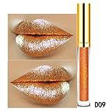 Ourhomer Waterproof Lasting10 Color Womens Magic Glitter Flip Lipstick Flip Pull Matte Pearl Lip Gloss CLU (I)