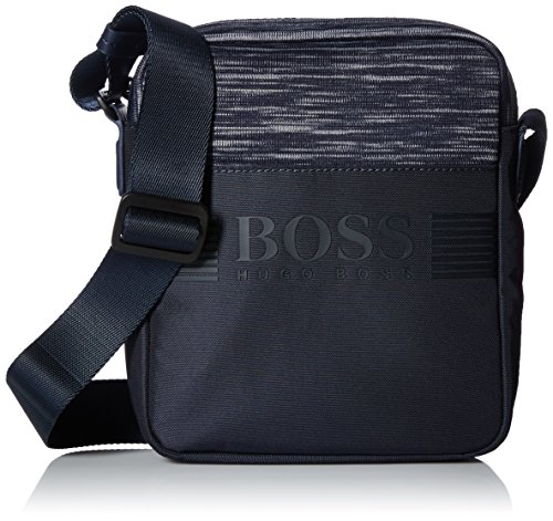BOSS Green Men's Pixel Knit Melange Zip Reporter Bag Accessory, -navy, One Size by Hugo Boss