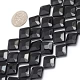 30mm Coin Gemstone Black Agate Beads Strand 15 Inches Jewelry Making Beads