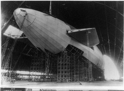 Photo: The Akron nearing completion at hangar,Akron,Summit - Store Summit Ohio