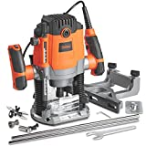 VonHaus 1600W Router - with 1/2' and 1/4' Collet - Woodworking Power...
