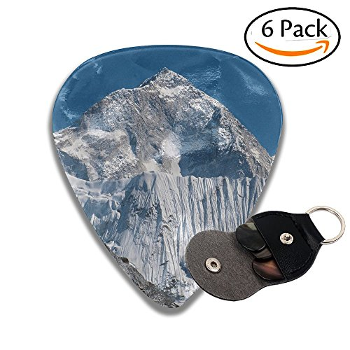 - Janeither Celluloid Guitar Picks Snow Mountains Clipart Art Cool Stylish Guitar Accessories 6 Pack For Acoustic, Electric, Original And Bass Guitars