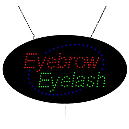 Eyebrows Threading Eye Brow Beauty /& Nails Tint LED Display Parlour Shop Sign UK