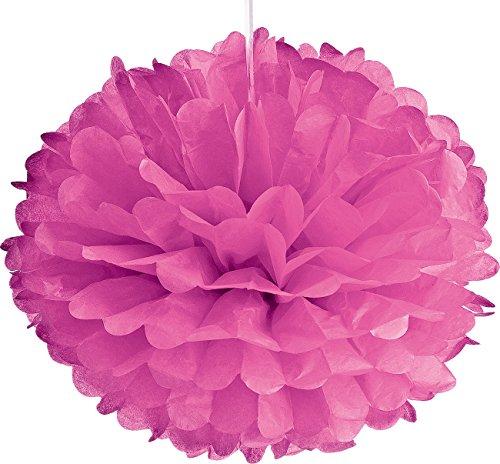 Luna Bazaar Tissue Paper Pom Pom (10-Inch, Bubblegum Pink) - for Baby Showers, Nurseries, and Parties - Hanging Paper Flower - Gum Bubble Ribbon