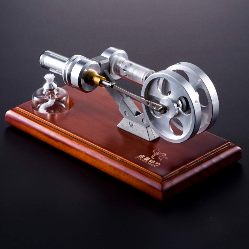 At27clekca Hot Air Stirling Engine Motor Model Stainless Steel Physical Science Kids Educational Toy Electricity Generator by At27clekca (Image #5)