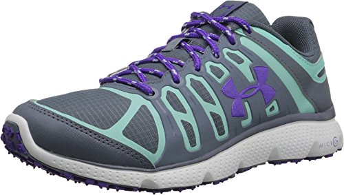 Under Armour Micro G Pulse II Grit Shoe - Women's Gravel/Crystal/Pride 7 (Pulse Ii Running Shoes)