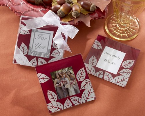 - Kate Aspen 27021BG Photo Coasters, Fall Impressions