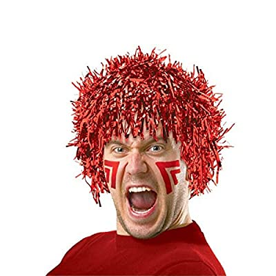 Amscan Fun Wig Party Costume, Red: Toys & Games