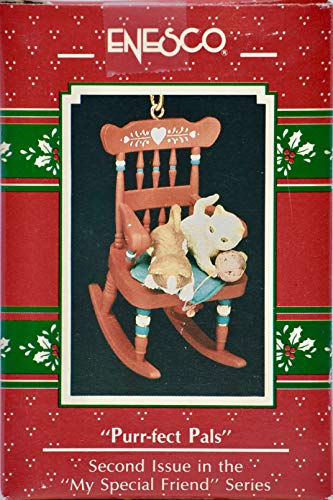 1990 - Enesco/M. Golmore Collection - Purr-fect PalsHanging Ornament - 2nd in Series - Collectible - New
