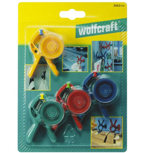 Wolfcraft 3663000 Mini Spring Clamps microfix S (4) by - Clamp Workpiece