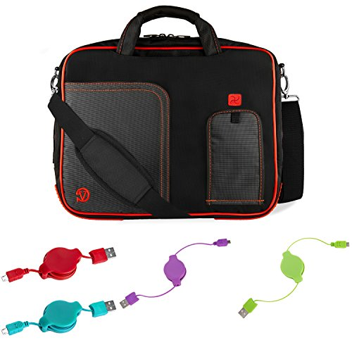 """Price comparison product image Office Business Travel Laptop Case & Charging Cables for Dell Latitude Chromebook 11"""" 12"""""""