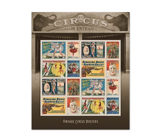 Vintage Circus Posters USPS Forever Stamps Sheet of for sale  Delivered anywhere in USA