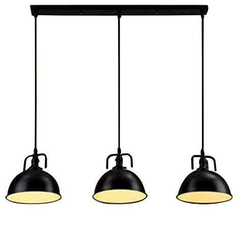 NIUYAO Lámparas de araña Metal Cuenco Iluminación de techo ...