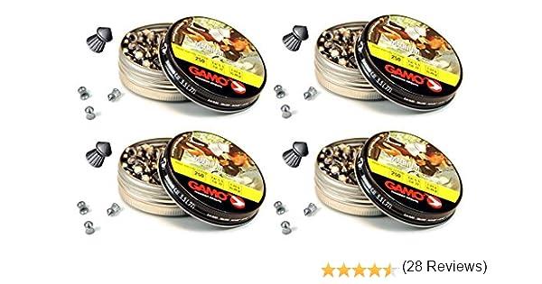 4 latas de 250 perdigones Gamo Magnum de Copa-Punta 5,5mm. Modelo ...