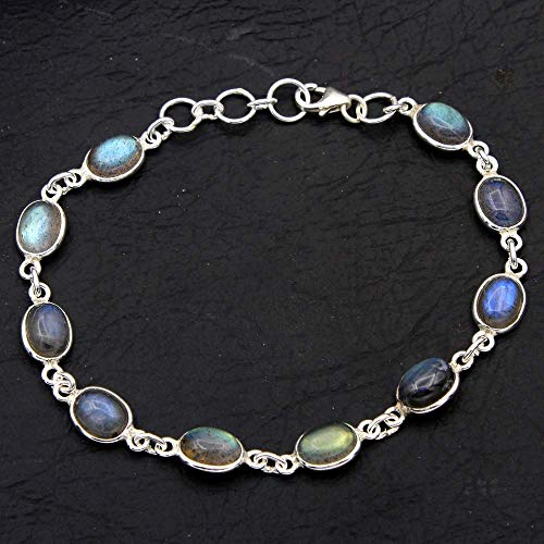 Christmas Special Natural Labradorite Gemstone Earring 925 Sterling Silver Jewelry Designer Bracelet Handmade Jewelry Womens Bracelet Silver Jewelry