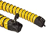 steel reinforced vinyl hose - Springflex FSP-5 Polyester Duct Hose, Yellow, Enclosed Belted Cuffs, 6