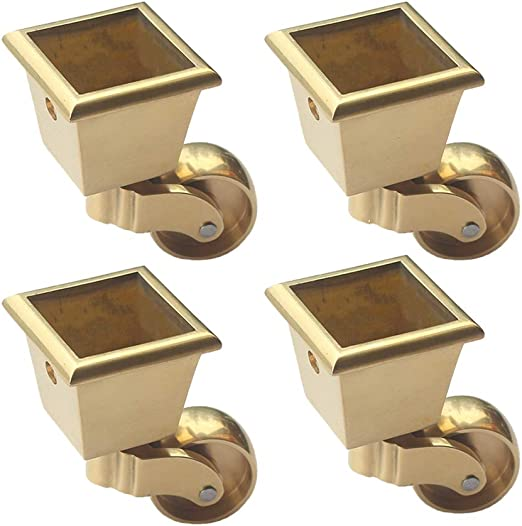 Ruedas giratorias de metal para muebles, ruedas de cobre puro con ...