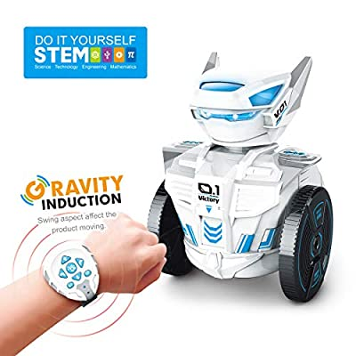 MDGZY STEM Learning Toys RC Robot Toy DIY Mechanical Robot Educational Toy Robot Remote Control by Watch Toys Best Gift for Kids,Building Toys