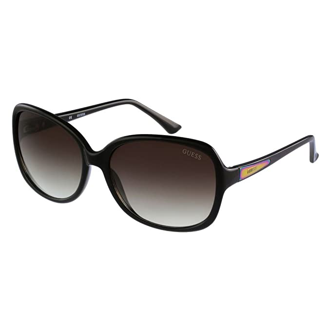 GUESS GU7345-61C38, Gafas de Sol para Mujer, Black/Gradient Smoke Lens