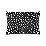 Custom Bingo Black And White Personalized Pillowcases Zippered Pillow Covers 16 by 24 Inches Two Sides