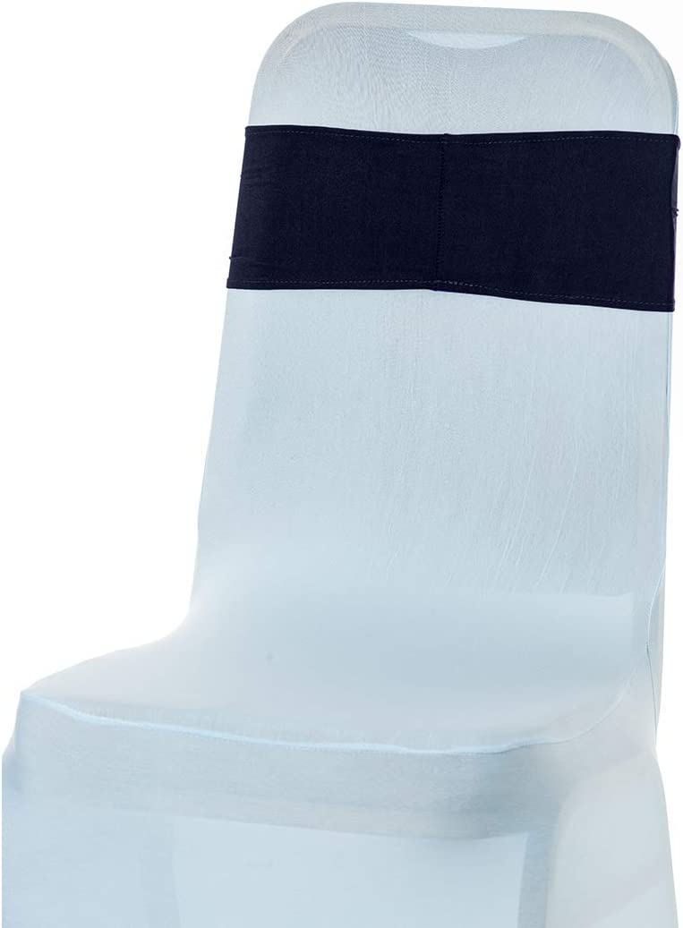 1 Piece Formal Meeting Events Supplies 13 x 6 Inches Weddecor Stretch Chair Bands Plain Spandex Band with Slider Buckle for Wedding Party Chair Decoration Aqua Blue