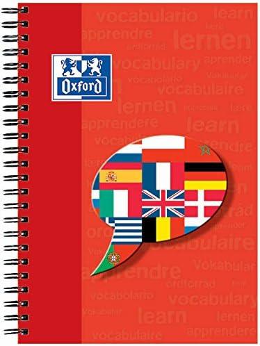 OXFORD 100102191 Vokabel-Coach Schule A5+ Vokabel-Collegeblock 2 Spalten - clever Vokabeln lernen - Zufallsfarbe, kein Farbwunsch möglich - Vokabelheft Ringblock Spiralblock