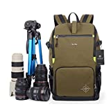 YAAGLE Oxford Multi-functional Anti-shock DSLR Camera Bag Backpack Professional Gear Photography Travel Rucksack 15-inch Laptop Pack