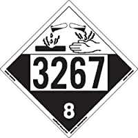 Labelmaster ZT4-3267 UN 3267 Corrosive Hazmat Placard, Tagboard (Pack of 25)