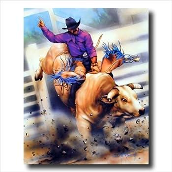 Amazon Com Cowboy Rodeo Bull Riding 2 Western Wall