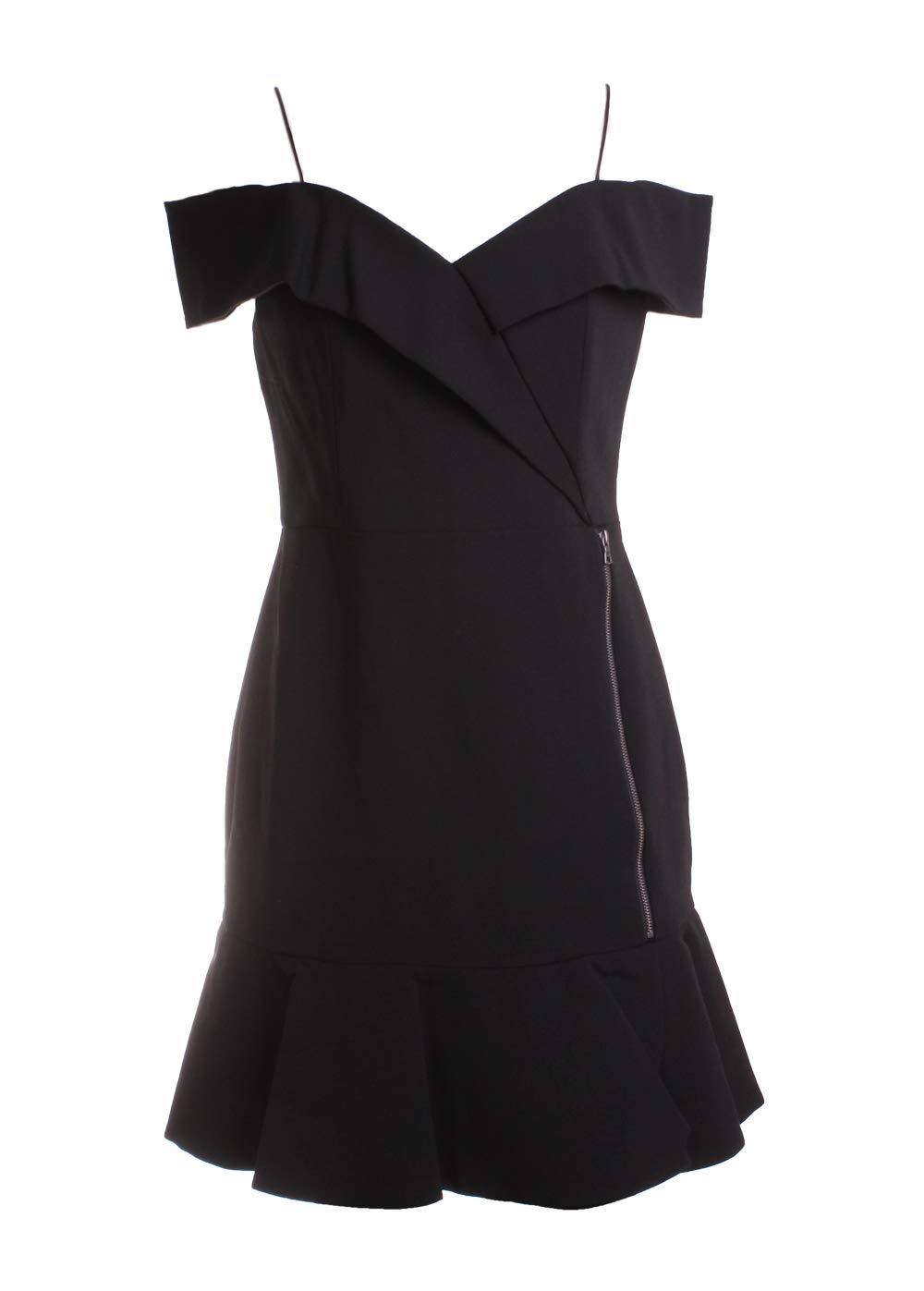 alice + olivia Dash Faux Wrap Dress Black