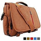 Snugg PU Leather Laptop Shoulder Bag, 15.6-Inch, Brown