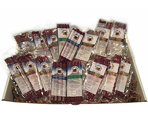 Large Bison and Elk Snack Stick and Jerky Gift Box by Wisconsinmade