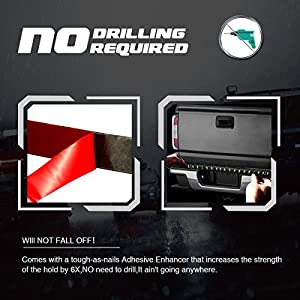 """AMBOTHER 5-Function 48""""/49"""" Truck Tailgate Side Bed Light Strip Bar 3528-72LEDs Waterproof IP67, Turn Signal, Parking, Brake, Reverse Lights for SUV Jeeps RVfor Dodge Ram Chevy GMC Red/White"""