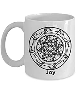 Joy Mandala Mug - Circle of Joy - 11oz Coffee Mug - Fun - Inspirational - Novelty Mug - Makes a Great Gift for Anyone!